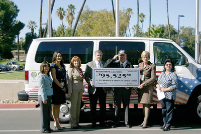 Stater Bros. Chairman and CEO and Navy Vet Jack H. Brown presented a check to VA Medical Center in Loma Linda on November 4, 2014 for the purchase of four 12-Passenger Transport Vans.  Pictured left to right (representing Stater Bros. Charities) Irene Willins, Nancy Negrette, Susan Atkinson, Brian Plein, Jack Brown, and (representing VA Medical Center in Loma Linda); Director Barbara Fallen and Patricia Moreno.