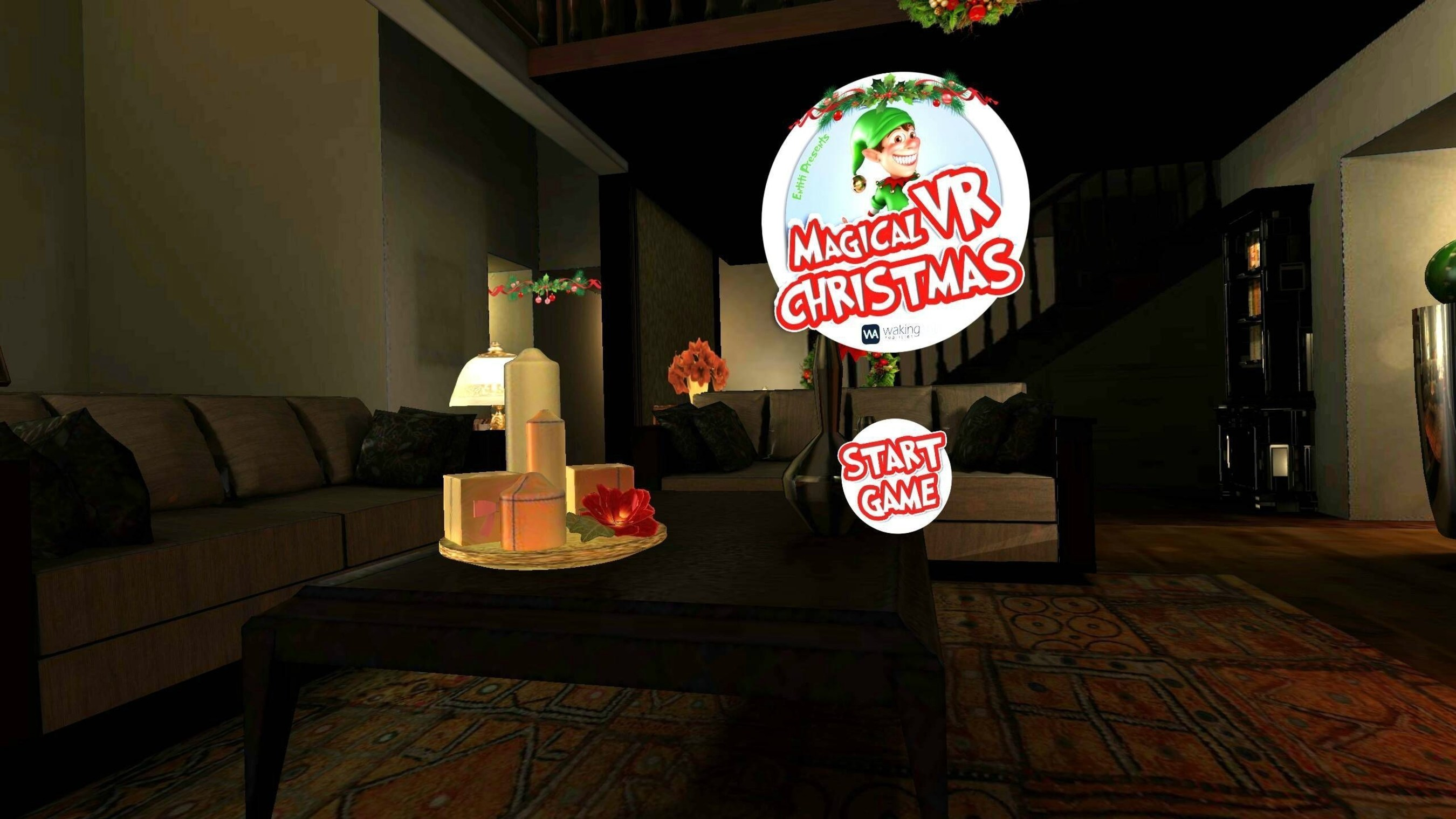 Screenshot from WakingApp's Magical VR Christmas experience, now available on ENTiTi Viewer for iPhone and Android.