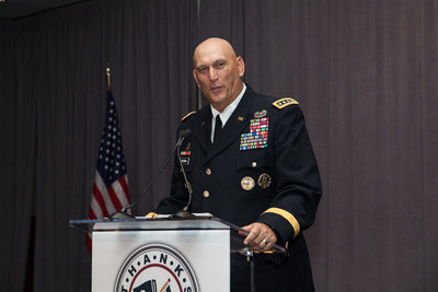 "General Odierno addresses the crowd at the annual ThanksUSA ""Treasure Our Troops"" Gala (PRNewsFoto/ThanksUSA)"