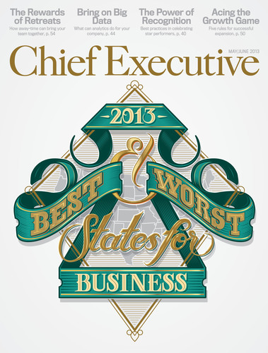 Chief Executive - 2013 Best & Worst States for Business cover.  (PRNewsFoto/Chief Executive Group)