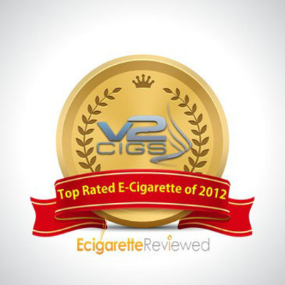 "V2 Cigs receives the ""Best E-Cigarette of 2012"" award.  (PRNewsFoto/E-Cigarette Reviewed)"