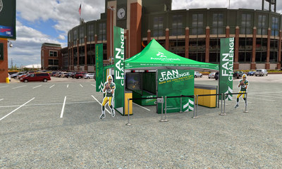 A rendering of the 'Associated Packers Fan Experience' interactive zone that will provide a unique fan challenge at all Packers home games.