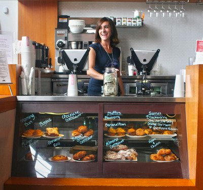 Revel Systems iPad POS viewed in Coffee Bar in San Francisco.   (PRNewsFoto/Revel Systems)