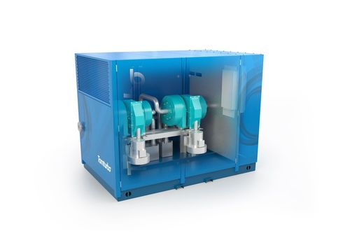 Tamturbo's 150 kW oil-free air turbo compressor will make a revolution in the compressed air markets by bringing significant electricity and maintenance savings for the end user over the life cycle of the compressor. (PRNewsFoto/Tamturbo Oy)