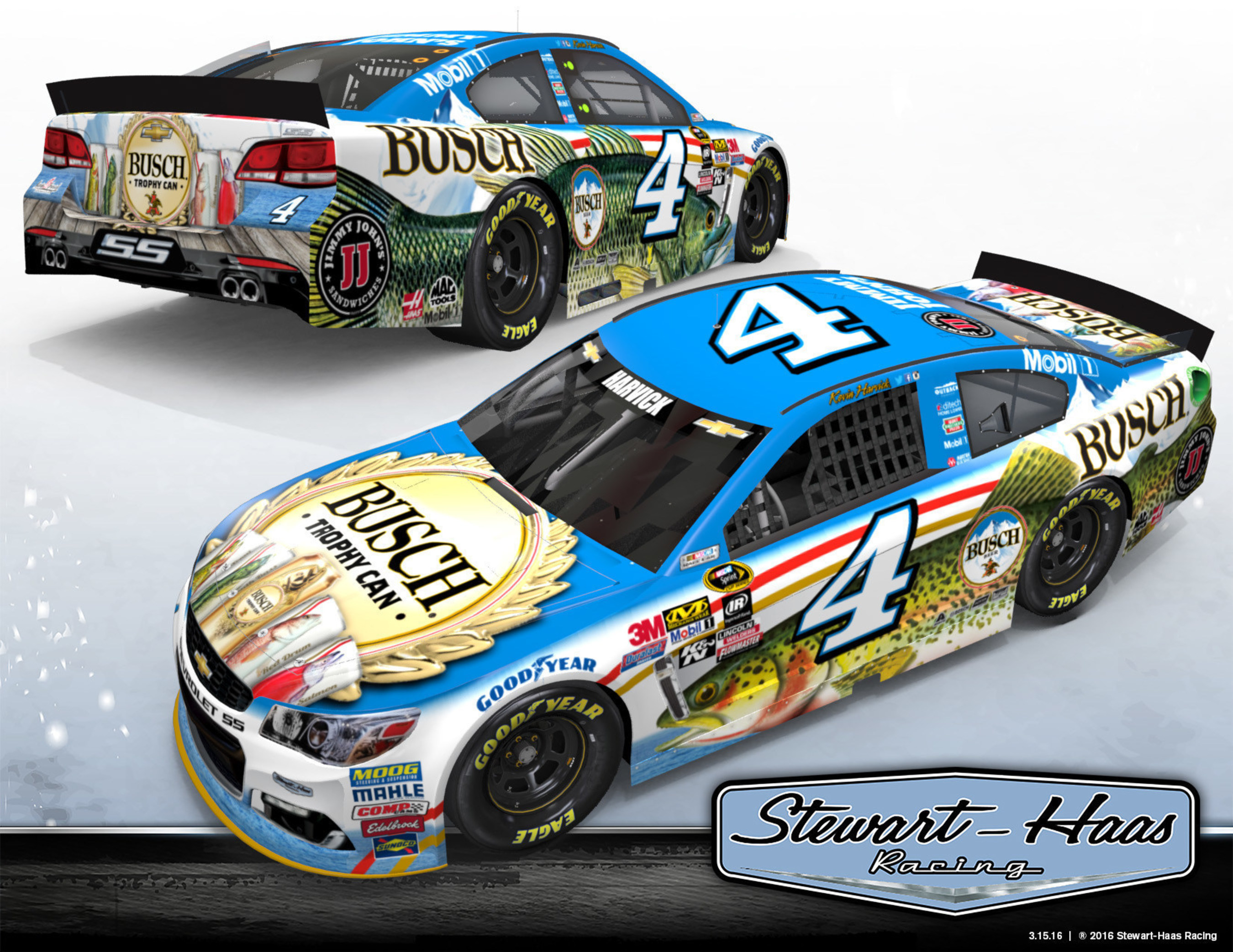 Busch beer's popular fishing promotion is back with a new twist, giving consumers the chance to win the ultimate fishing getaway with pro fisherman and seven time Angler of the Year, Kevin VanDam. The brand's 2016 campaign kicks off on May 1 when NASCAR driver Kevin Harvick's No. 4 Chevrolet SS for Stewart-Haas Racing (SHR) sports a special-edition Busch fishing paint scheme during the GEICO 500 Sprint Cup Series race at Talladega (Alabama) Superspeedway.