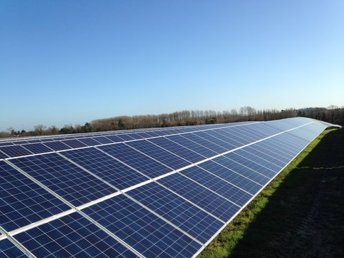 BayWa r.e. completes the Forest Heath solar farm in England. (PRNewsFoto/BayWa r.e.)