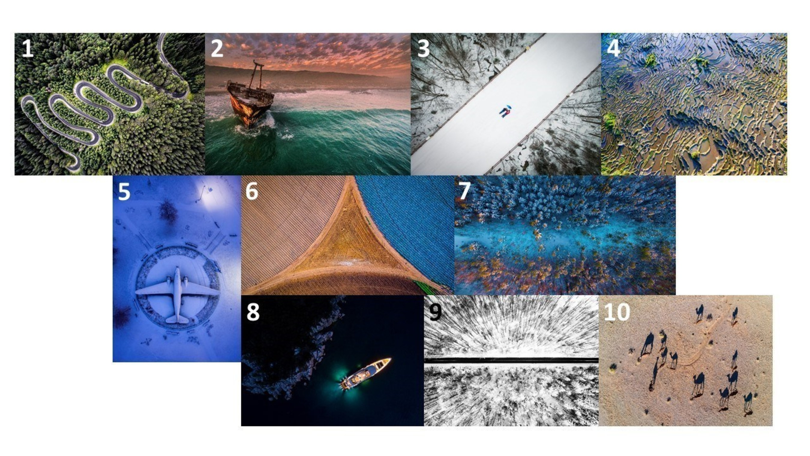 The best aerial and drone photos in 2016