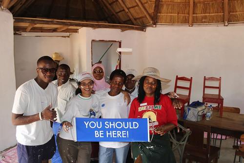 WorldVentures Foundation volunteers are enjoying painting the Good Shepherd Trust for Children's Home in ...