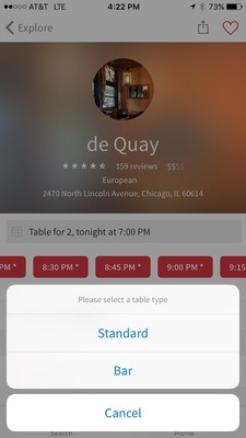 OpenTable Pilots New Feature in Chicago Allowing Diners to Book the Bar