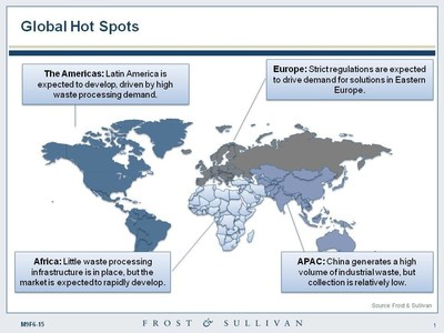 Global hot spots of industrial waste management services market. (PRNewsFoto/Frost & Sullivan)