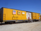 Formerly an insulated boxcar, Union Pacific's mobile classroom features seating with work space for 40 students.