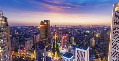 Business District - Xinjiekou Nanjing panoramic view by Jinling Laoxia