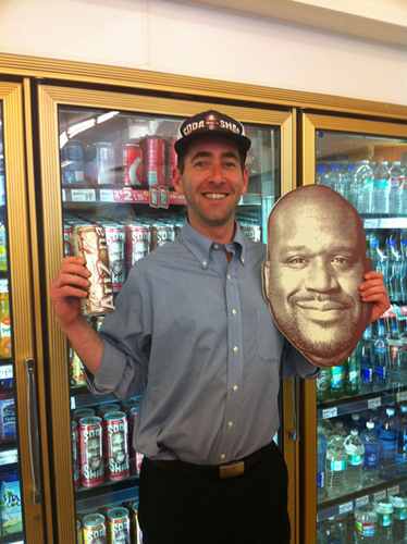 "The first Soda Shaq Golden Can was found on Wednesday, August 14, 2013, in Los Angeles by Winner, Arthur ""Bo"" Bartholomew, a Los Angeles local.  (PRNewsFoto/AriZona Beverages)"