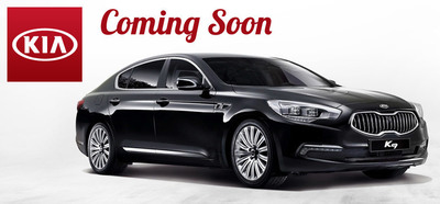 The anticipation of the 2015 K900's arrival is mounting at Briggs Kia. (PRNewsFoto/Briggs Kia)