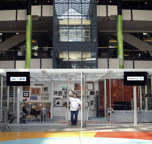 Blue Cross do.® Campaign has Minnesotan Living in Glass Apartment at Mall of America®