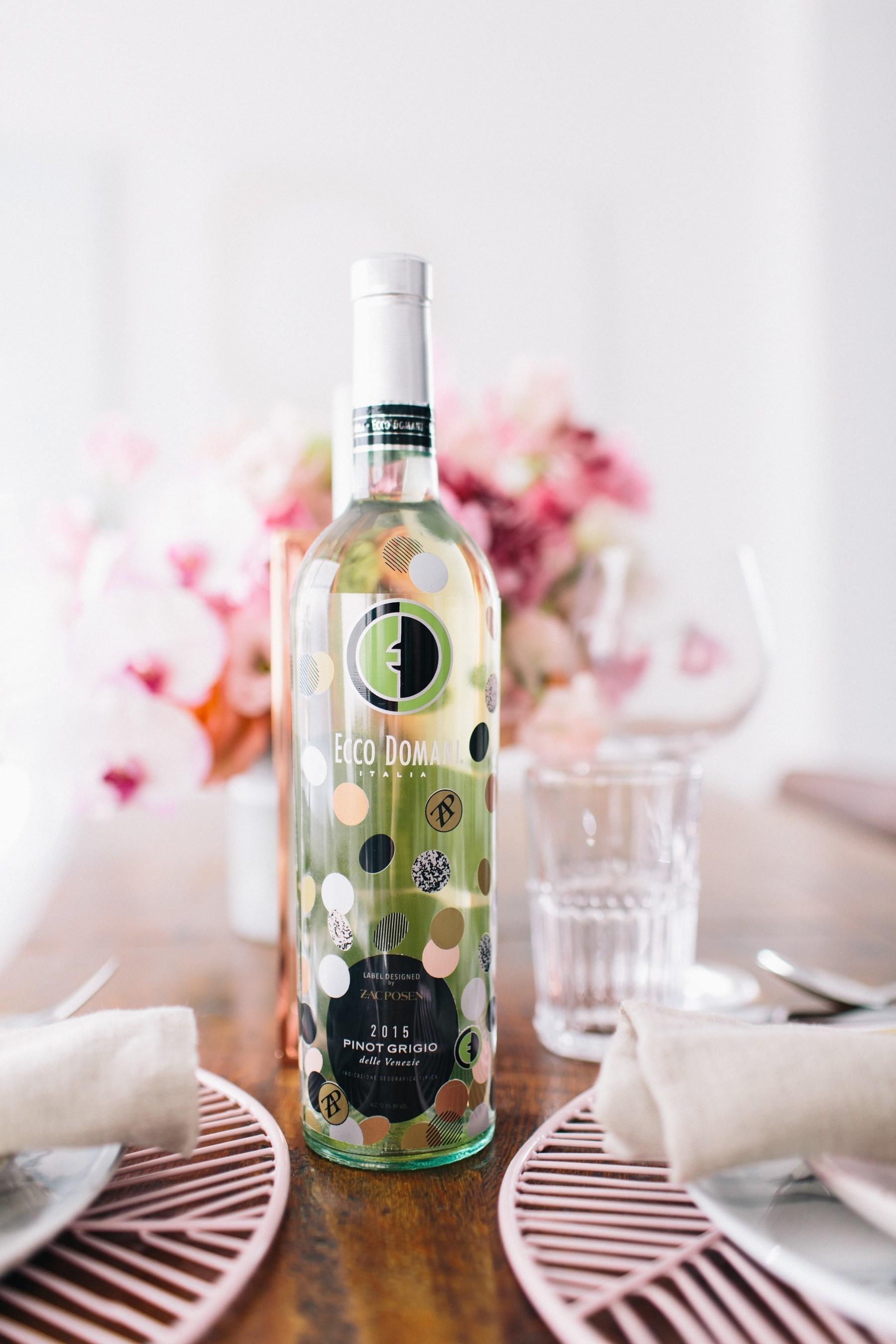 2016 Limited Edition Ecco Domani Pinot Grigio Bottle Designed by Zac Posen