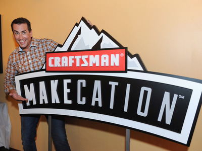 "Actor and comedian Rob Riggle announces the Craftsman MAKEcation, Wednesday, June 4, 2014, in New York. MAKEcation is the ultimate ""making"" vacation to be held Labor Day weekend. Attendees will learn skills from hardcore blacksmiths, rugged woodworkers and cigar rolling experts. Visit www.craftsmanmakecation.com to enter for a chance to win a coveted spot for the event or to buy a ticket. (Photo by Diane Bondareff/Invision for Craftsman/AP Images)"