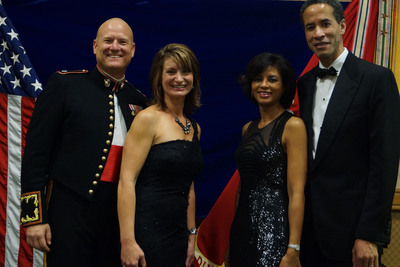 Lieutenant Colonel and Mrs. Phillip M. Bragg and Karen and Charles Phillips at 237th Marine Corps Birthday Ball for 2nd Battalion, 10th Marines.  (PRNewsFoto/USMC Birthday Ball)
