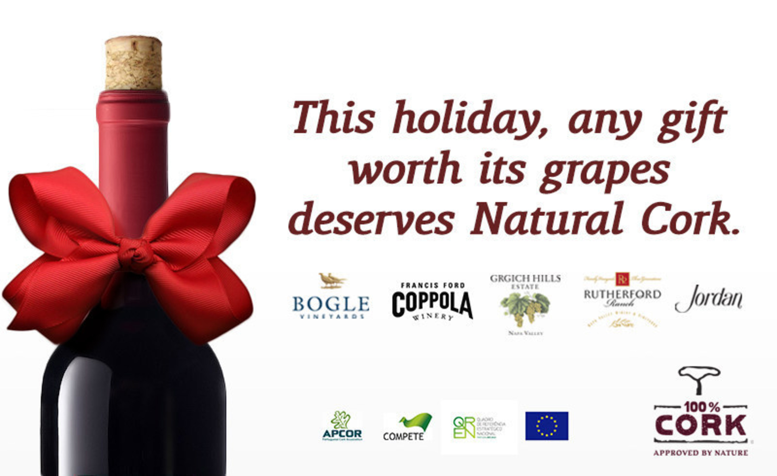 Leading Wineries Join Cork Industry to Highlight Consumer Preference for Natural Cork