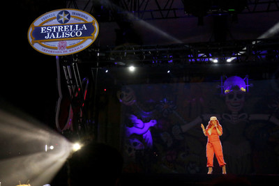 Estrella Jalisco celebrates Jenni Rivera tribute with first Hispanic hologram on Saturday, Oct. 29, 2016, in Los Angeles. (Casey Rodgers/AP Images for Estrella Jalisco)