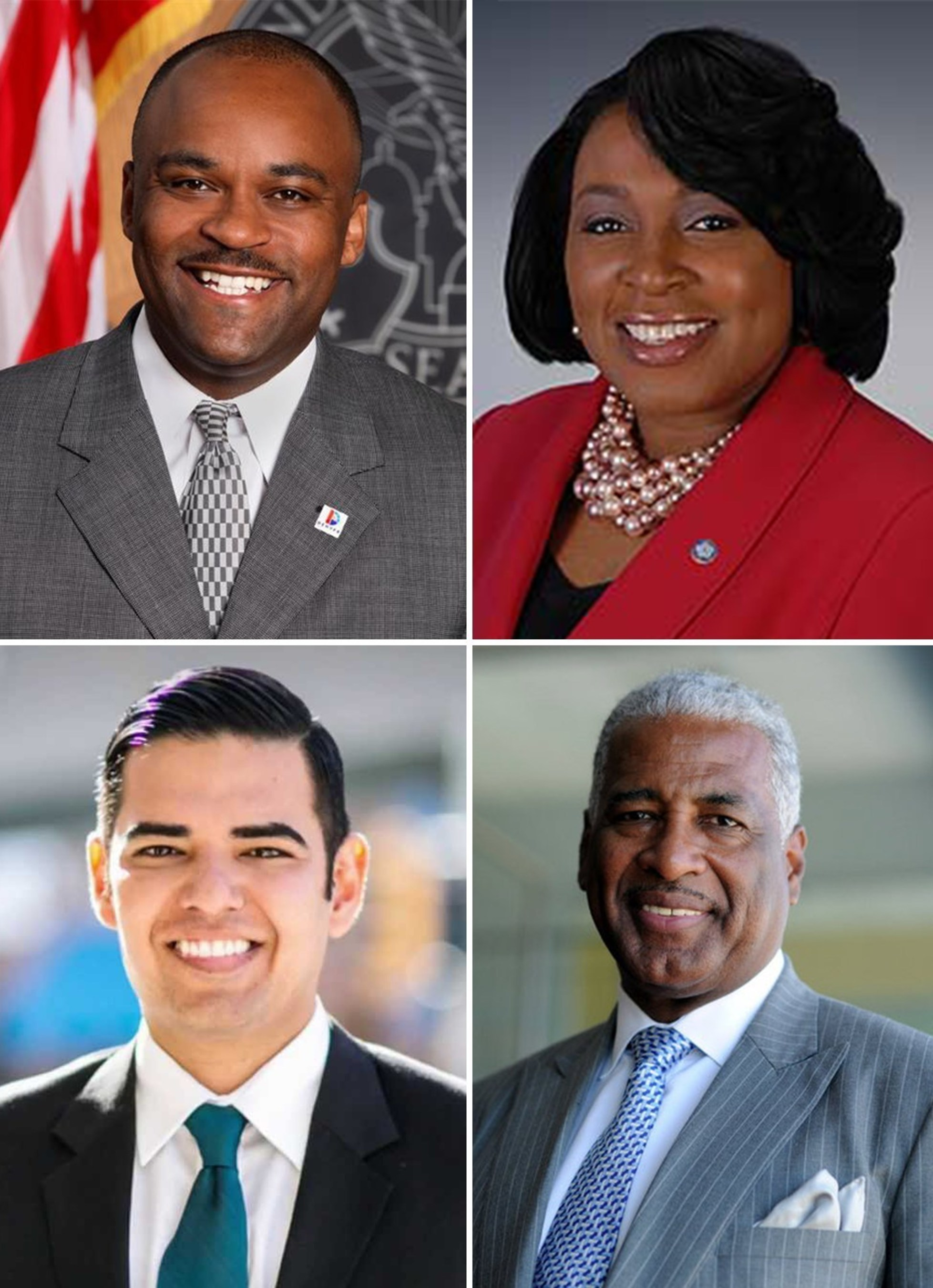 The National League of Cities (NLC) and the Urban Land Institute (ULI) today announced that mayors from four cities-Birmingham, Ala.; Denver; Long Beach, Calif.; and Rochester, N.Y.-have been selected as the 2016 class of Daniel Rose Fellows by the Rose Center for Public Leadership in Land Use. Clockwise from upper left: Denver Mayor Michael Hancock, Rochester Mayor Lovely A. Warren, Birmingham Mayor William Bell and Long Beach Mayor Robert Garcia.