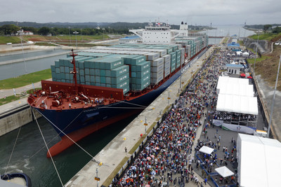 The Panama Canal Authority held the inaugural opening of the historic $5.25-billion third set of locks expansion project on June 26 with the transit of the Neopanamax ship Cosco Shipping Panama.