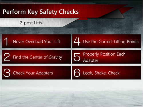 Lifting It Right: 2014 Online Edition, a new interactive online lift safety training course from the Automotive  ...