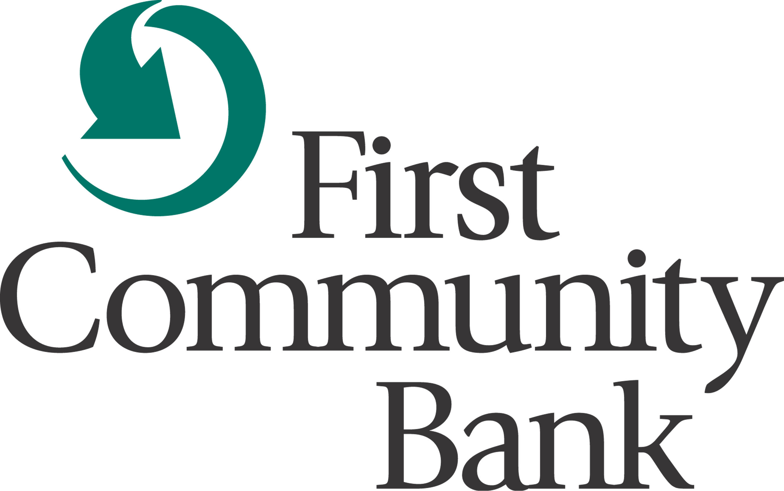 First Community Bank logo.
