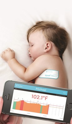 TempTraq Wireless Thermometer in the Form of a Soft, Comfortable Patch Continuously Monitors Body Temperature for 24 Hours, Sends Temperature Alerts to Mobile Devices