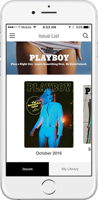 Playboy magazine made its debut in the iTunes App and Google Play stores today.