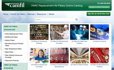Camfil USA's online catalog gives more power to commercial buyers when researching HVAC replacement filters. (PRNewsFoto/Camfil)