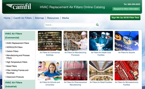 Camfil USA's online catalog gives more power to commercial buyers when researching HVAC replacement ...