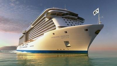 Princess Cruises to name new China-based cruise ship Majestic Princess.