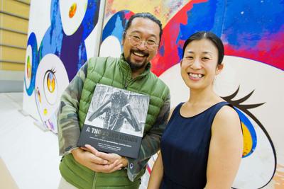 Artist Takashi Murakami & Yumi Terahata, International Medical Corps Japan.  (PRNewsFoto/International Medical Corps)