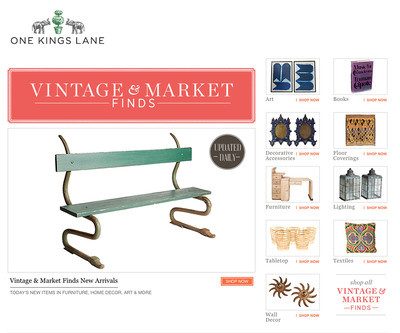 One Kings Lane Launches Vintage & Market Finds, a New Online Marketplace of Curated Antique and Vintage Treasures