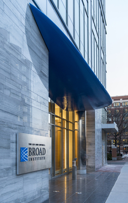 The Broad Institute of MIT and Harvard celebrates the opening of a 375,000-square-foot research building at 75 Ames Street in Cambridge, Massachusetts. Photo credit: Peter Vanderwarker