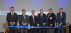 Olympus marks the official Grand Opening of its Surgical Innovation Center with a ribbon-cutting ceremony. Left to right: Scott M. Larson, Vice President, Surgical Energy Business Center, Olympus Surgical Technologies America (OSTA); Georg Schloer, President, OSTA; Hiroyuki Sasa, President, Olympus Corporation; Mark Dayton, Governor of Minnesota; Jeffrey Lunde, Mayor of Brooklyn Park, Minnesota; Michael Langley, CEO, Greater MSP