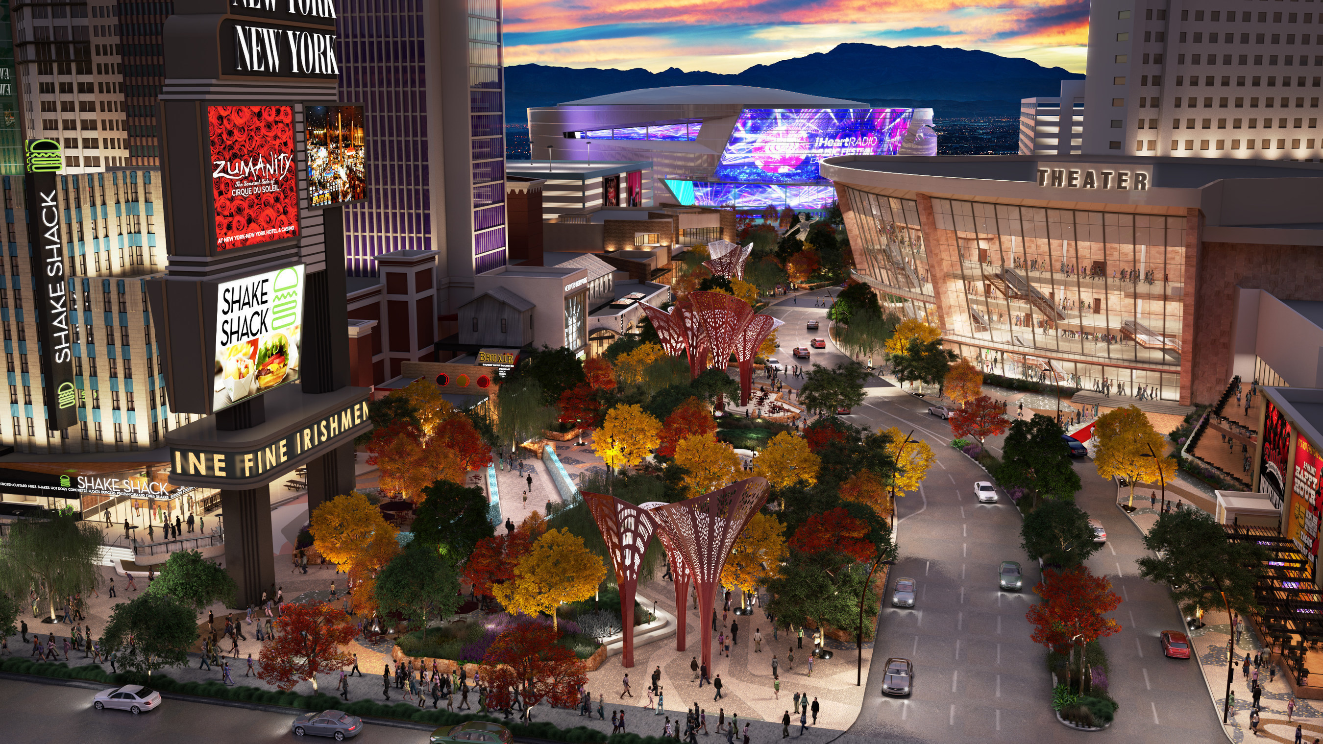 The Monte Carlo theater will be adjacent to The Park and 20,000-seat arena currently under construction on Las Vegas Blvd., anchoring the dynamic new entertainment district currently taking shape.