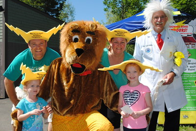 Leon the Lightning Lion and Dr. Lightning kickoff Lightning Safety Awareness Week at Storyland Park in NH to emphasize the importance of protecting people, property and places against nature's underrated hazard.