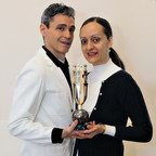 Artist Ruben Toledo and Designer Isabel Toledo with the new AAFA American Image Awards statuette.