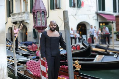 Designer Franklin Eugene- Venice International Film Festival-Venice Biennale, Photo Credit-Pier Marco Tacca, Milan, Italy