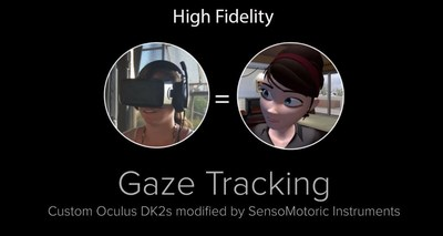 High Fidelity open source VR network adds real eye movements to avatar animations using eye tracking for Virtual Reality Headsets by SensoMotoric Instruments (SMI). (PRNewsFoto/SensoMotoric Instruments GmbH)