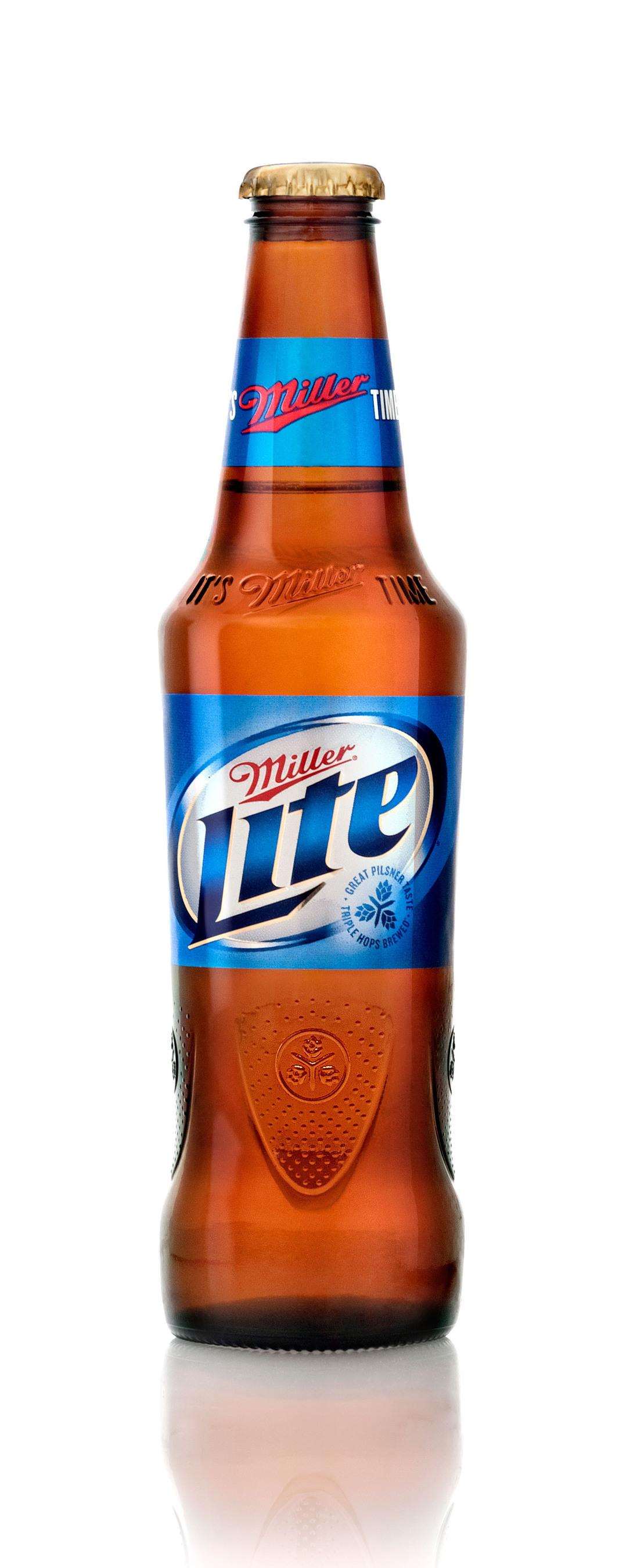 MILLER LITE REINVENTS MILLER TIME WITH NEW BOTTLE.  (PRNewsFoto/MillerCoors)