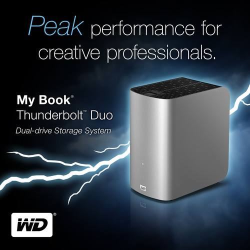 WD(R) Shipping My Book(R) Thunderbolt(TM) Duo Dual-Drive Storage System: Ultra-Fast Read/Write Times for Creative Pros, and Today's Need-it-Now Consumers.  (PRNewsFoto/Western Digital Technologies)