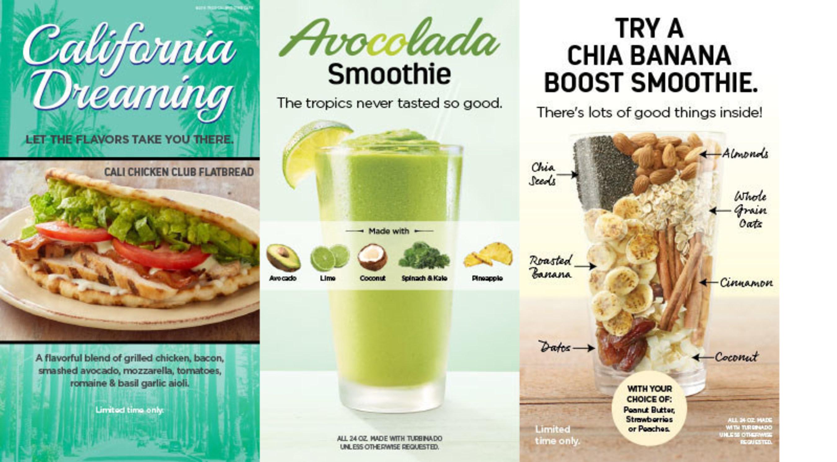 Tropical Smoothie Cafe Menu And Nutrition