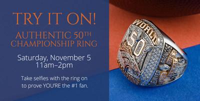 Denver Broncos Super Bowl Ring Try-On Event at H. Carter