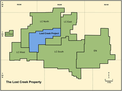 Ur-Energy's Lost Creek Property in Wyoming.  (PRNewsFoto/Ur-Energy Inc.)
