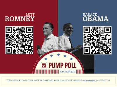 Voters at the Gas Pump Declare Mitt Romney the Winner in Outcast Media's Inaugural Election 2012 Pump Poll!  (PRNewsFoto/Outcast Media)
