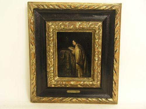 """Rembrandt painting """"Lesender am Pult"""" (PRNewsFoto/Fine Art & Antique Auctions)"""