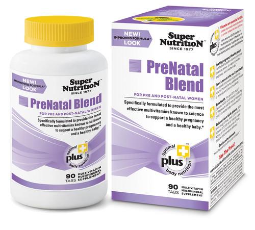 The PreNatal Blend. The Most Effective PreNatal Multivitamins Known to Science. (PRNewsFoto/SuperNutrition, Inc.) (PRNewsFoto/SUPERNUTRITION, INC.)